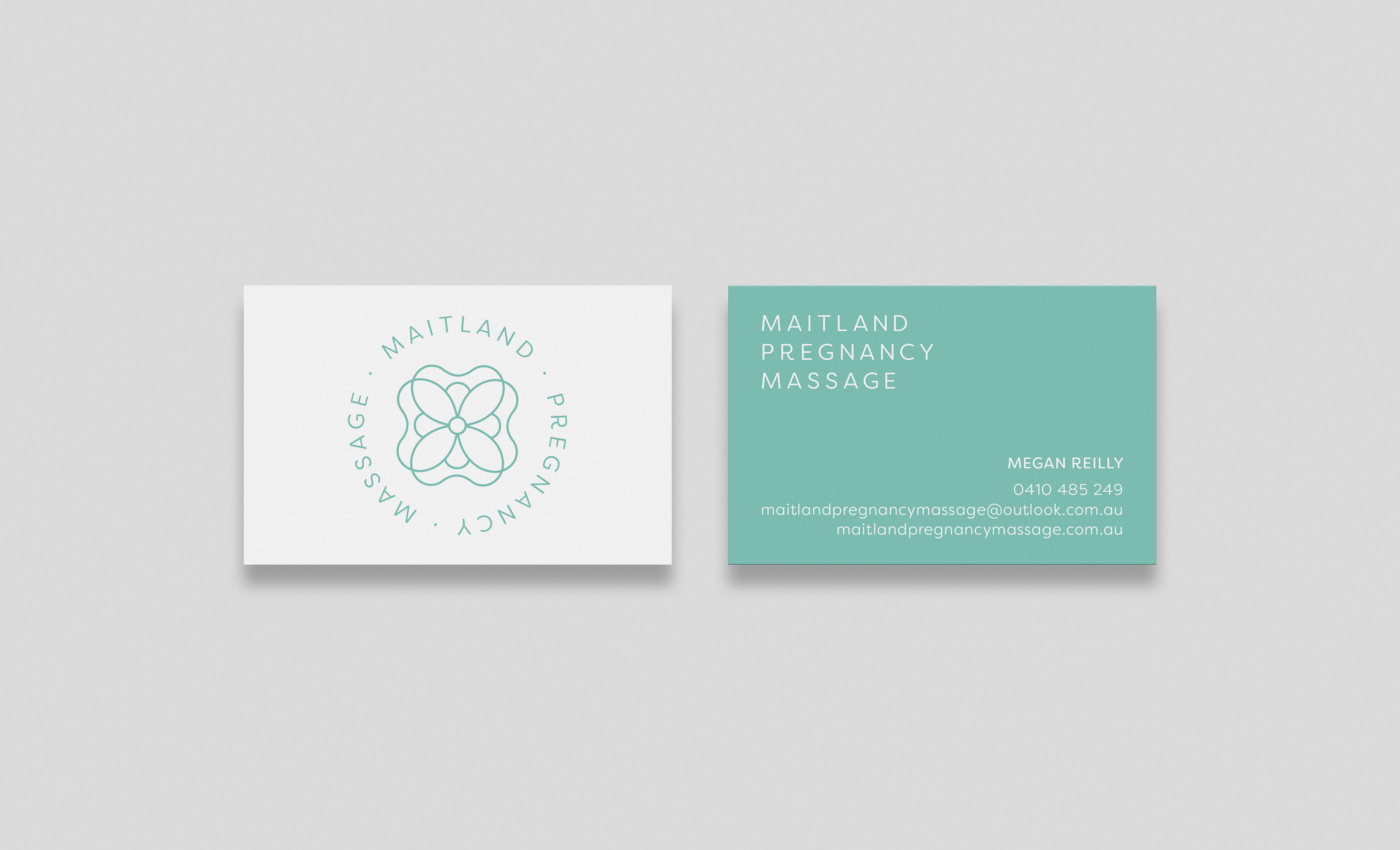 Maitland Pregnancy Massage Business Card