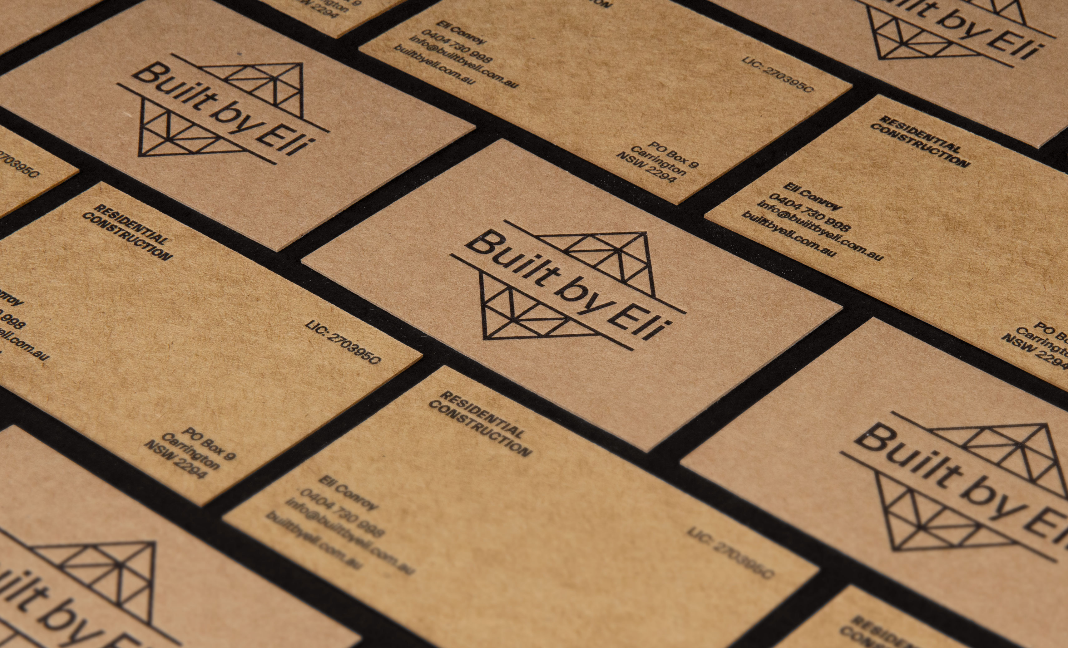 Built by Eli Logo Design Business Cards
