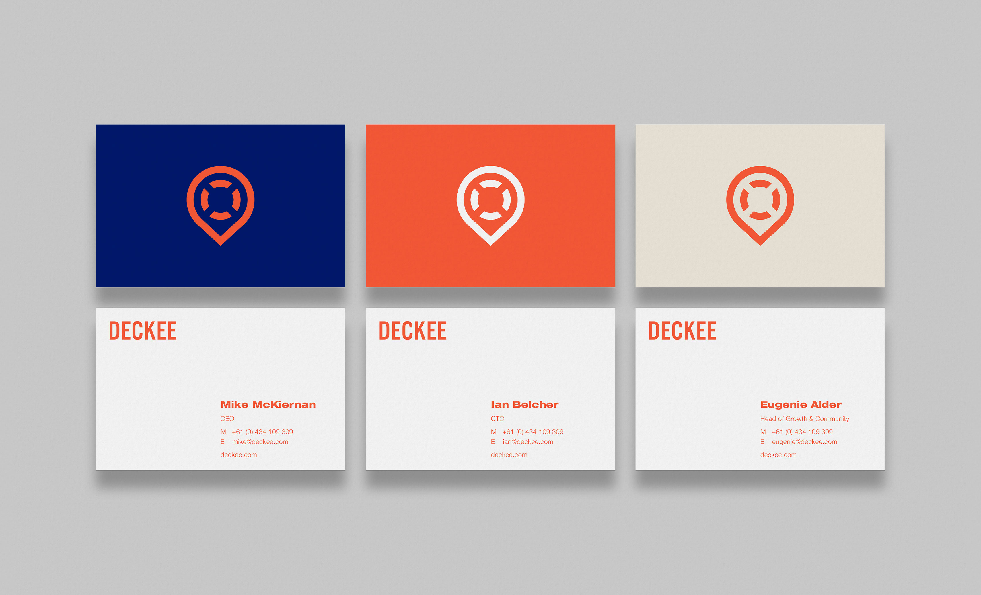 Deckee Logo Branding Business Cards
